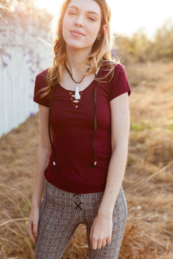 Buffalo Tooth Leather Necklace