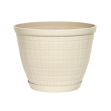 10'' Adelyn Planter with Saucer - Ivory
