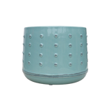 Ceramic Pot with Embossed Dot Pattern