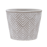 Grey and White Cement Pot for Plants