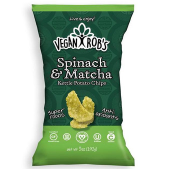 Vegan Rob's Kettle Chips 12pk - 5oz Spinach & Matcha