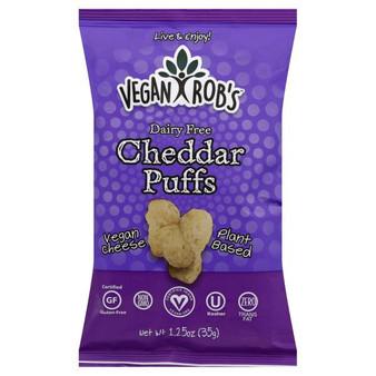 Vegan Rob's Puffs 24pk - 1.25oz Dairy Free Cheddar