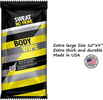 Sweat No More - Body Wipes