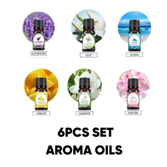 6PK Scented Aroma Oils