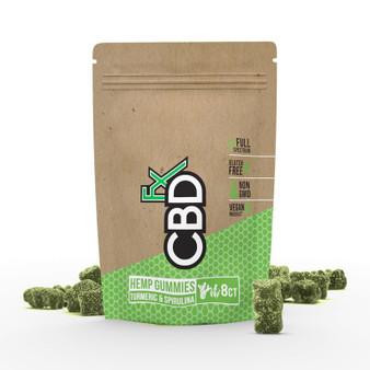 CBD Gummies with Turmeric & Spirulina 40mg (8ct Pouch)