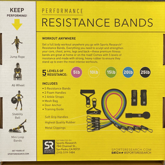 Performance resistance bands