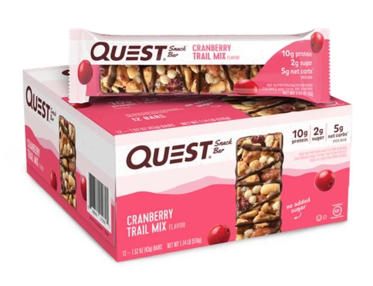 12pk Quest Snack Bar - Cranberry Trail Mix