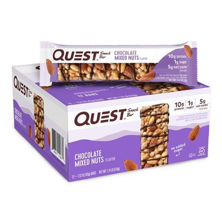 12pk Quest Snack Bar - Chocolate Mixed Nuts