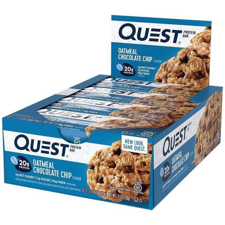 Quest Bar 12pk - Oatmeal Chocolate Chip