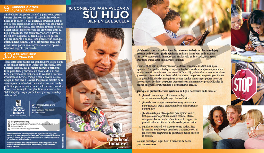Brochure: 10 Tips to Help Your Child Do Well in School (Spanish)