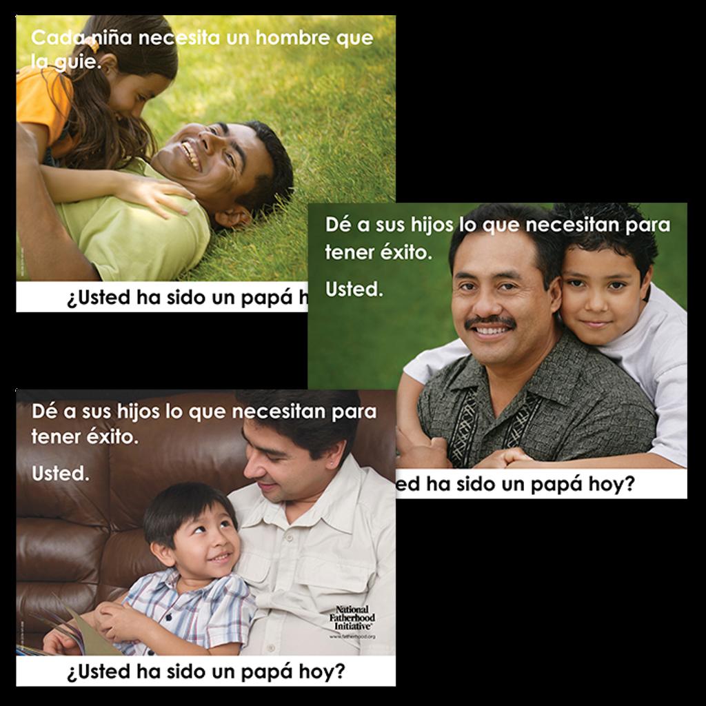 "Poster Set of 3 (Horizontal 22""x28"") Spanish"