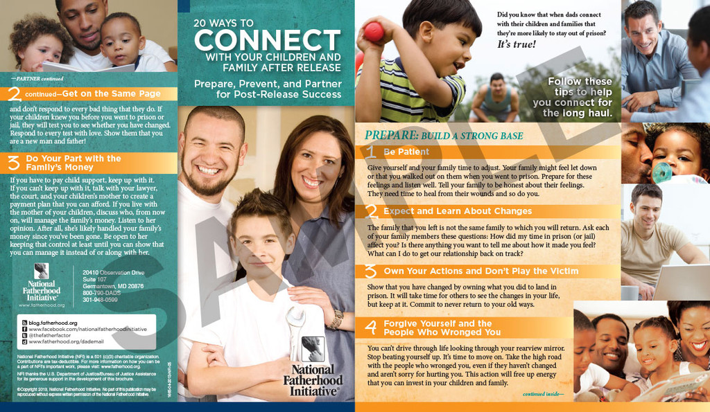 Brochure: 20 Ways To Connect With Your Children And Family After Release