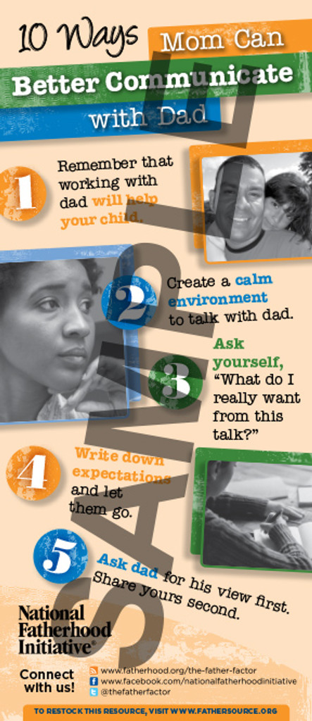 Tip Card for Moms: 10 Ways Mom Can Better Communicate with Dad
