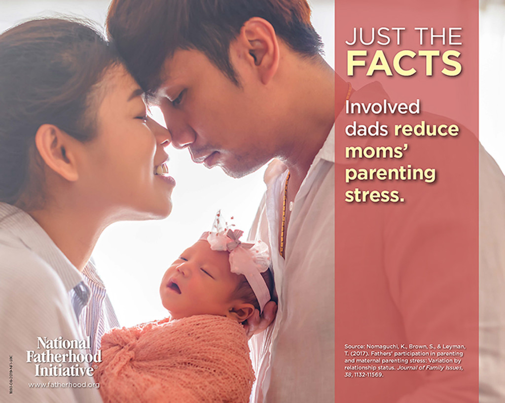 "NEW! Father Facts Poster Set of 5 Version 2 (Horizontal 20""x16"") English"