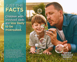 """NEW! Father Facts Poster Set of 5 Version 2 (Horizontal 22""""x28"""") English"""