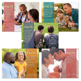 "NEW! Father Facts Poster Set of 5 Version 2 (Horizontal 22""x28"") English"