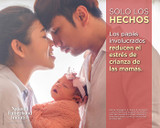 """NEW! Father Facts Poster Set of 5 Version 2 (Horizontal 22""""x28"""") Spanish"""