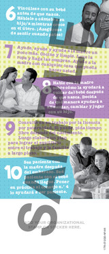 Tip Card: 10 Tips for Expectant Dads (SP)