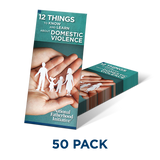 Brochure: 12 Things You Need to Know & Learn About Domestic Violence