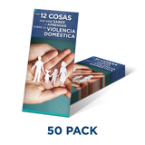 Brochure: 12 Things You Need to Know & Learn About Domestic Violence (SP)