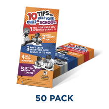 Tip Card: 10 Tips to Help Your Child in School