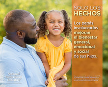 "NEW! Father Facts Poster Set of 5 Version 2 (Horizontal 20""x16"") Spanish"