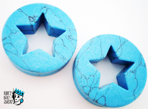 Turquoise Star Stone Plugs