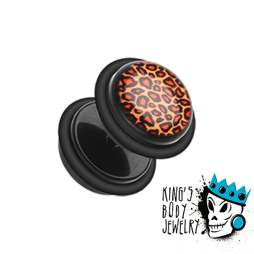 Fake Leopard Print Plugs