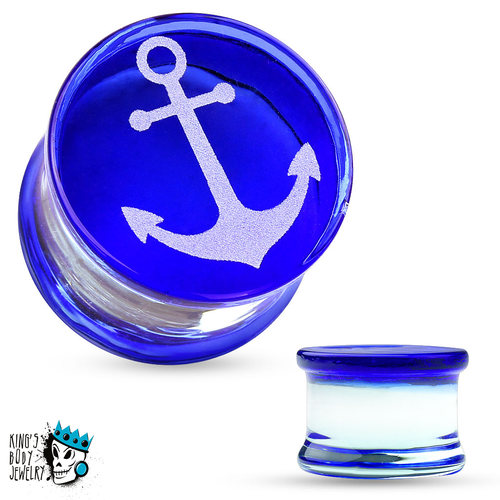 Anchor Glass Plugs (2 gauge - 5/8 inch)