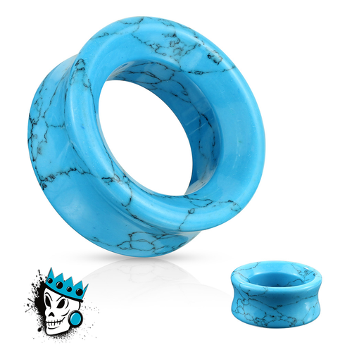 Turquoise Stone Tunnels (6 gauge - 2 inch)