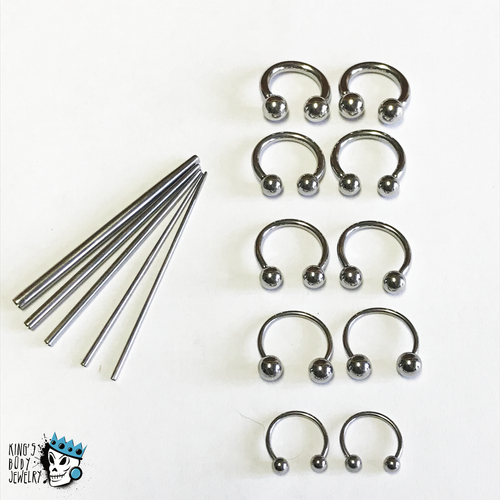 Circular Barbells & Concave Tapers Kit (18 gauge - 10 gauge)