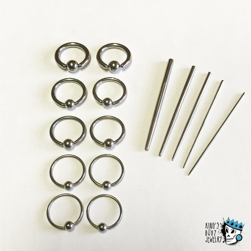 Captives & Concave Tapers Kit (18 gauge - 10 gauge)