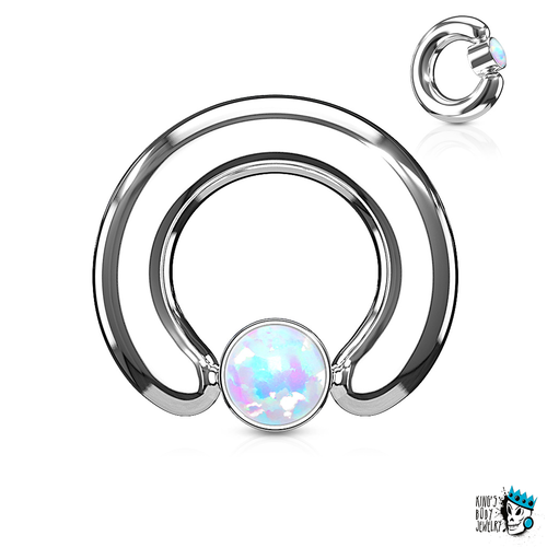 Big Opal captive bead rings