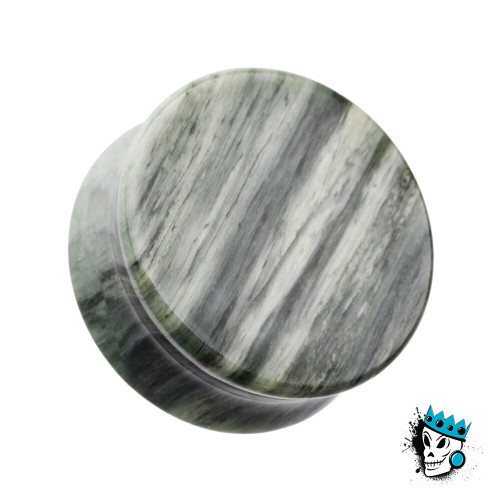 Green Jasper Double Flare Stone Plugs