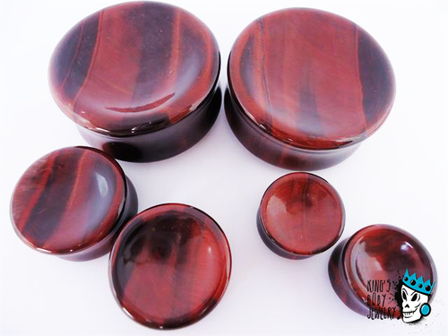 Red Tiger's Eye Concave/Convex