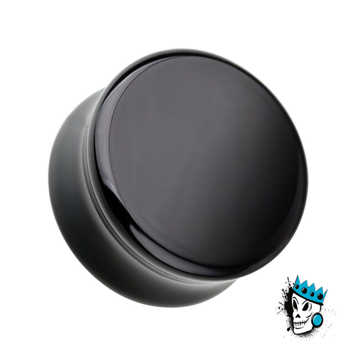 Black Agate Double Flare Stone Plugs