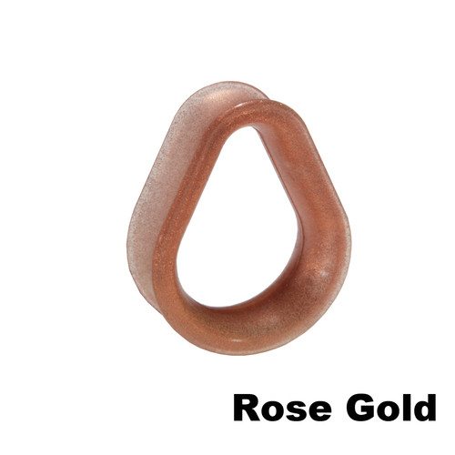 Rose Gold KAOS Silicone Hydra Teardrop Eyelets  (00g - 2 inch)