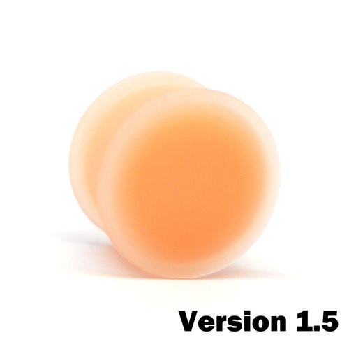 KAOS Silicone Flesh Tone Hider Plugs Version 1.5 (10g - 1inch)