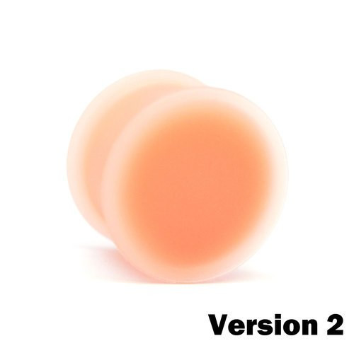 KAOS Silicone Flesh Tone Hider Plugs Version 2 (10g - 1inch)