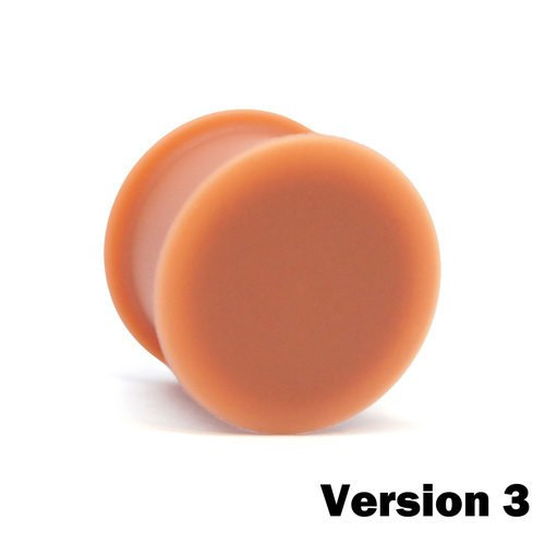 KAOS Silicone Flesh Tone Hider Plugs Version 3 (10g - 1inch)