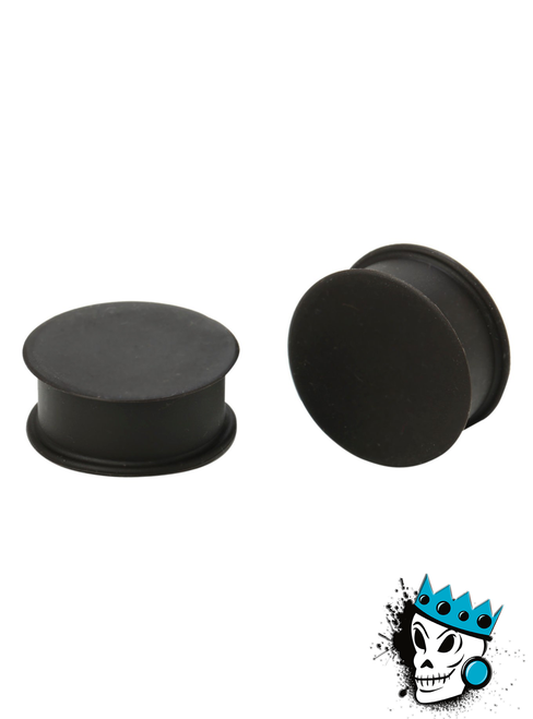 Black Solid Silicone Plugs