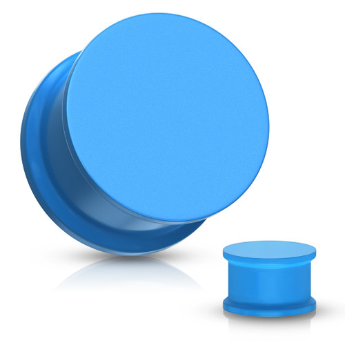 Blue Solid Silicone Plugs