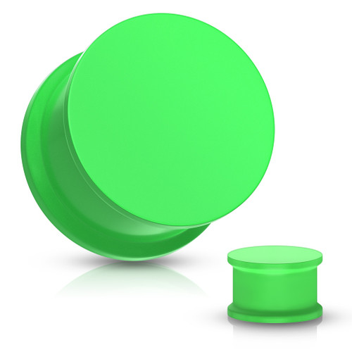 Green Solid Silicone Plugs