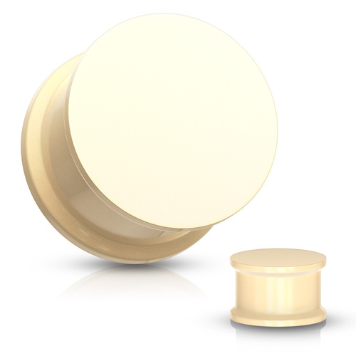 Peach Solid Silicone Plugs