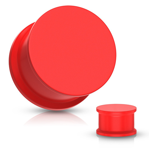 Red Solid Silicone Plugs