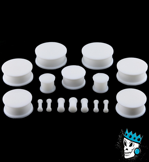 White Solid Silicone Plugs