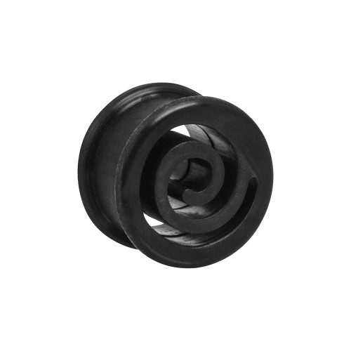 Black Spiral Silicone Tunnels