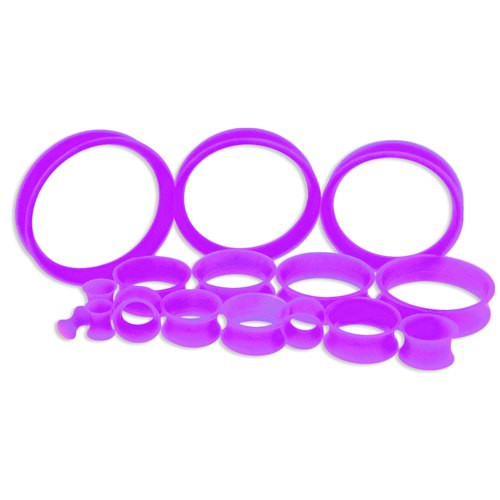 Lavender Silicone Thin Tunnels (6 gauge - 2 inch)