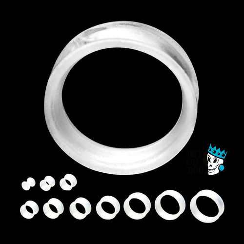 Pearlescent White Skin Eyelets (2 g - 1 inch)