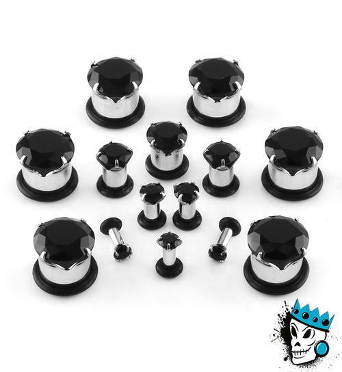 Black Single Flare BLING Plugs